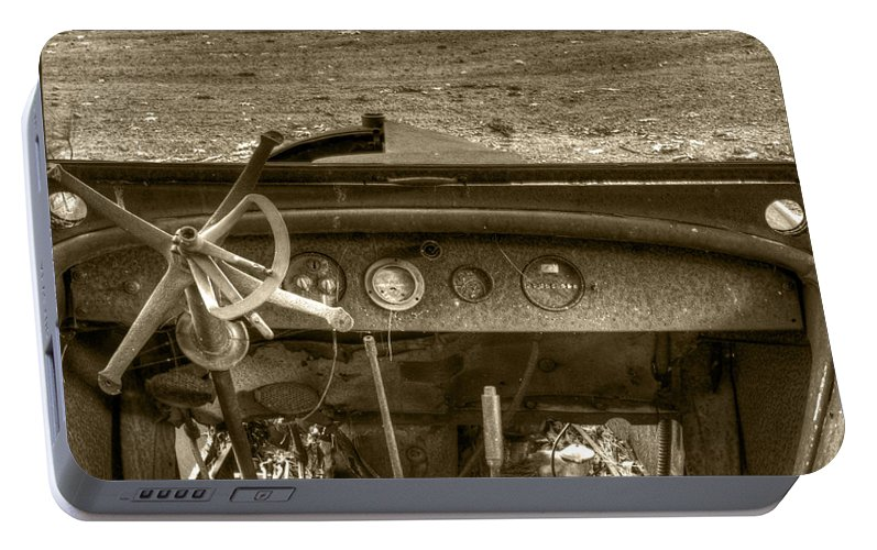 Old Car Portable Battery Charger featuring the photograph Old Inside And Out by Thomas Young