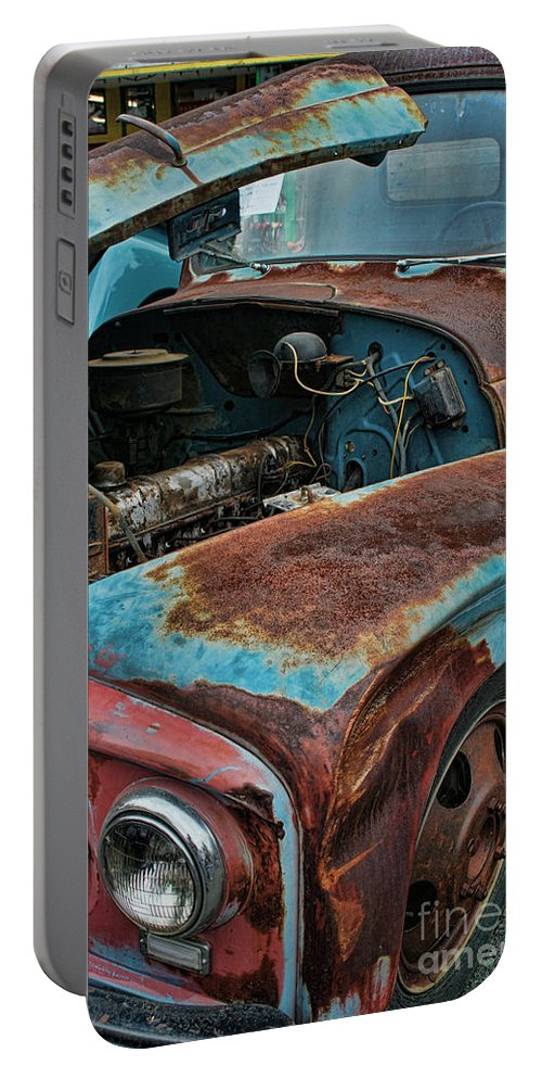Old Trucks Portable Battery Charger featuring the photograph Old International Hood And Fender Hdroc4224-13 by Randy Harris