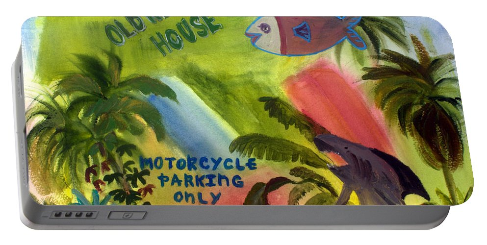 Florida Portable Battery Charger featuring the painting Old Key Lime House by Donna Walsh