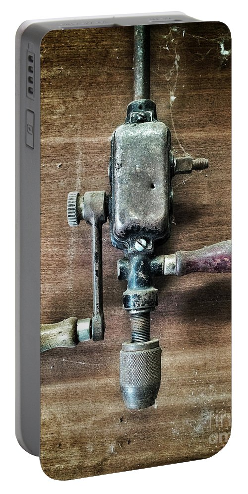 Drill Portable Battery Charger featuring the photograph Old Manual Drill by Carlos Caetano