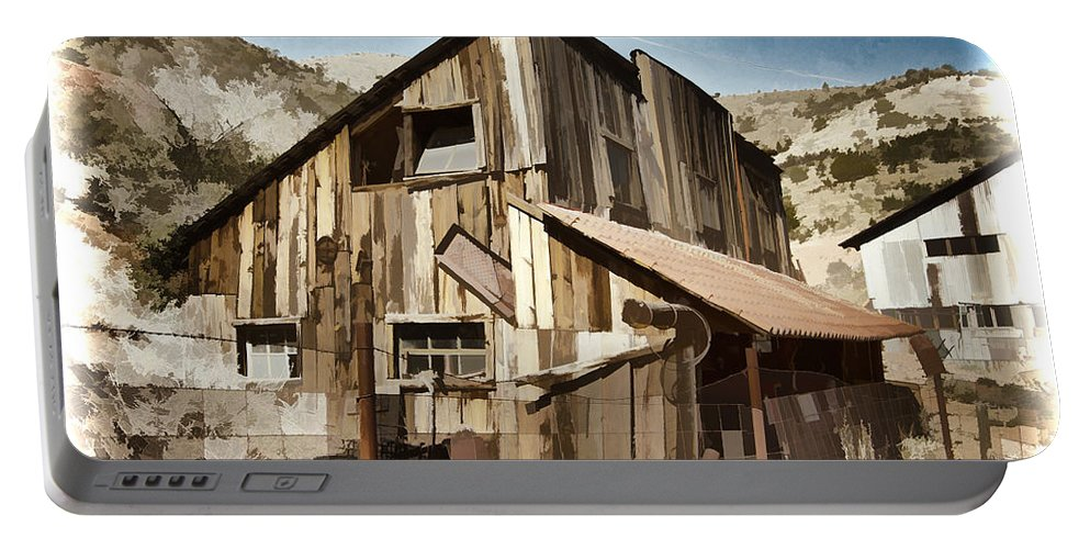 Mine Portable Battery Charger featuring the photograph Old Mine Shack by Jon Berghoff