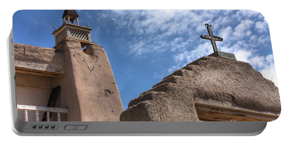 Mission Portable Battery Charger featuring the photograph Old Mission Crosses by David Cutts