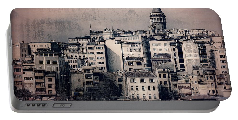 Galata Tower Portable Battery Charger featuring the photograph Old New District by Joan Carroll