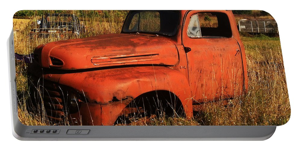 Jamie Lynn Gabrich Portable Battery Charger featuring the photograph Old Orange by Jamie Lynn