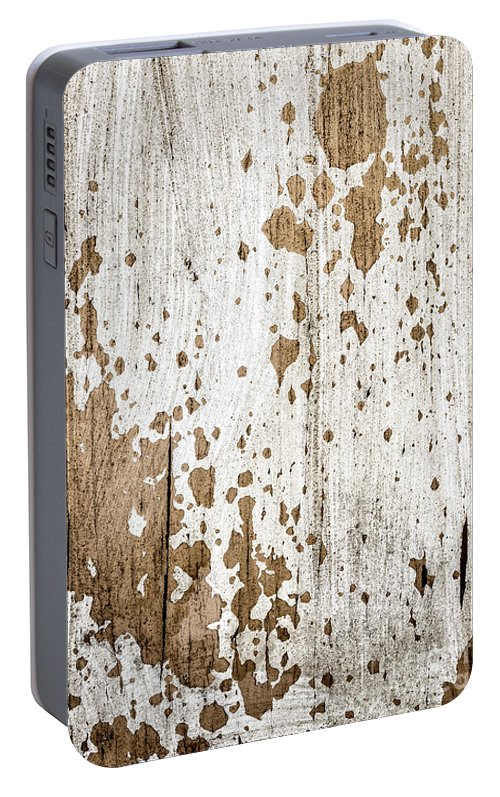 Rustic Portable Battery Charger featuring the photograph Old Painted Wood Abstract No.3 by Elena Elisseeva