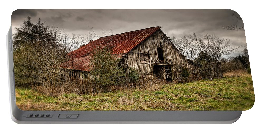 Old Portable Battery Charger featuring the photograph Old Rustic Barn by Brett Engle