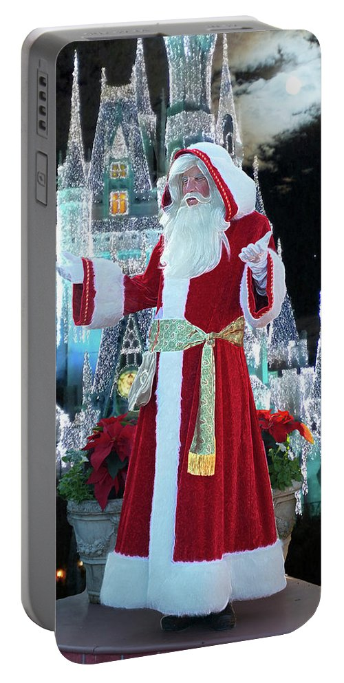 Variety Portable Battery Charger featuring the photograph Old Saint Nick Walt Disney World Digital Art 02 by Thomas Woolworth