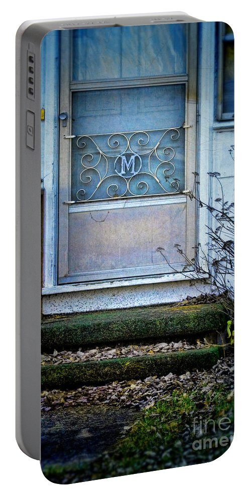 Old Portable Battery Charger featuring the photograph Old Screen Door by Jill Battaglia