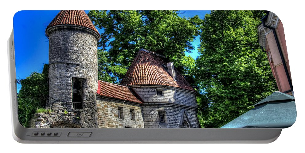 Estonia Portable Battery Charger featuring the photograph Old Town - Tallin Estonia by Jon Berghoff