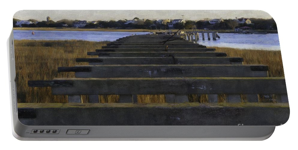 Old Pitt Street Bridge Portable Battery Charger featuring the photograph Old Village To Sullivan's Island by Dale Powell