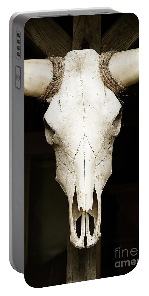 Animal Portable Battery Charger featuring the photograph Old West by Joe Mamer
