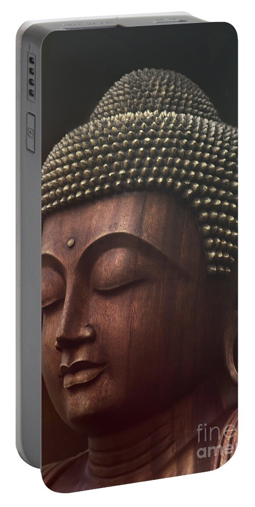 Buddha Portable Battery Charger featuring the photograph Om Mani Padme Hum - Buddha by Sharon Mau