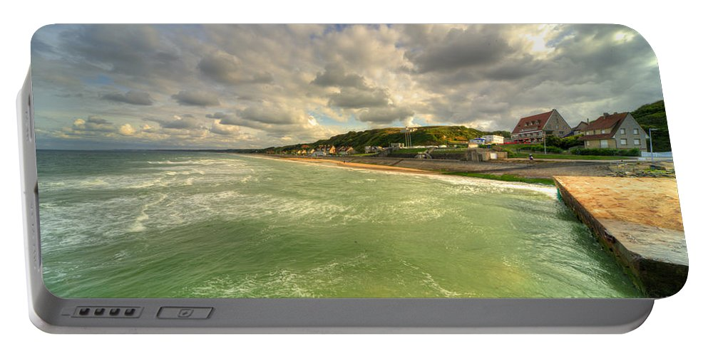 Omaha Portable Battery Charger featuring the photograph Omaha Beach by Rob Hawkins