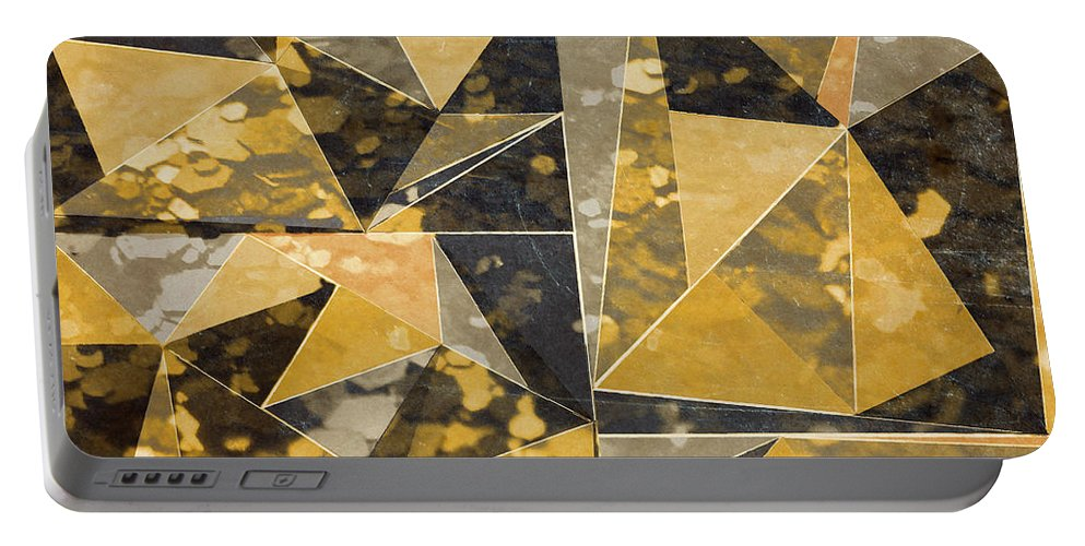 Omg Portable Battery Charger featuring the digital art Omg Modern Triangles II by south Social Studio