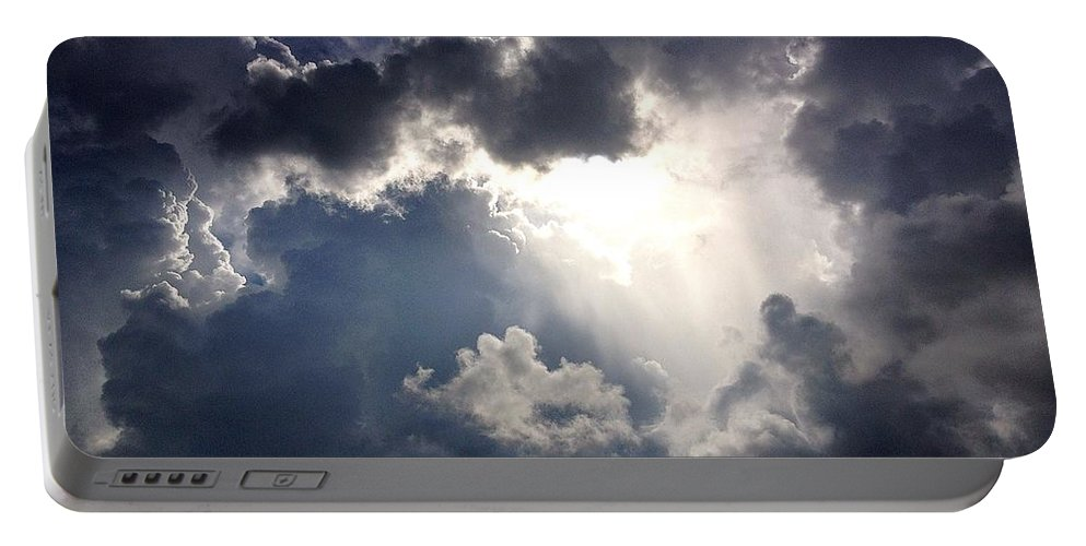 Sky Portable Battery Charger featuring the photograph Ominous by John Duplantis
