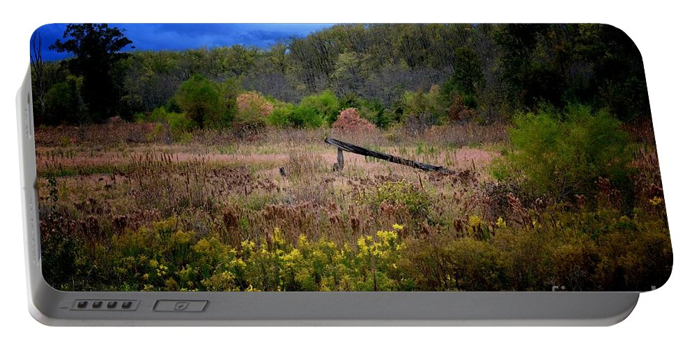 Ominous October Portable Battery Charger featuring the photograph Ominous October by Maria Urso