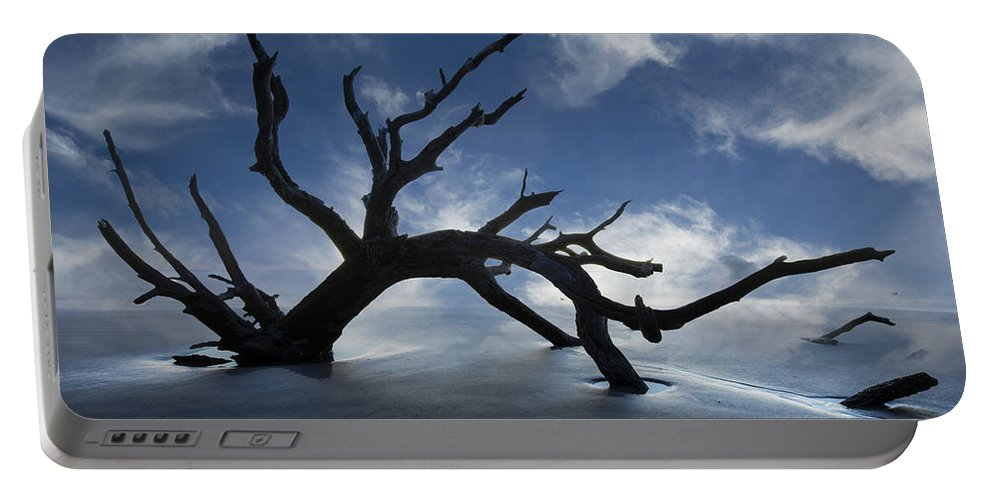 Clouds Portable Battery Charger featuring the photograph On A Misty Morning by Debra and Dave Vanderlaan