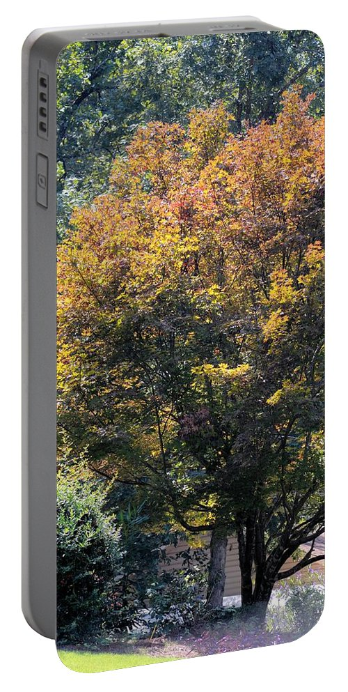On An Autumn Afternoon Portable Battery Charger featuring the photograph On An Autumn's Afternoon by Maria Urso