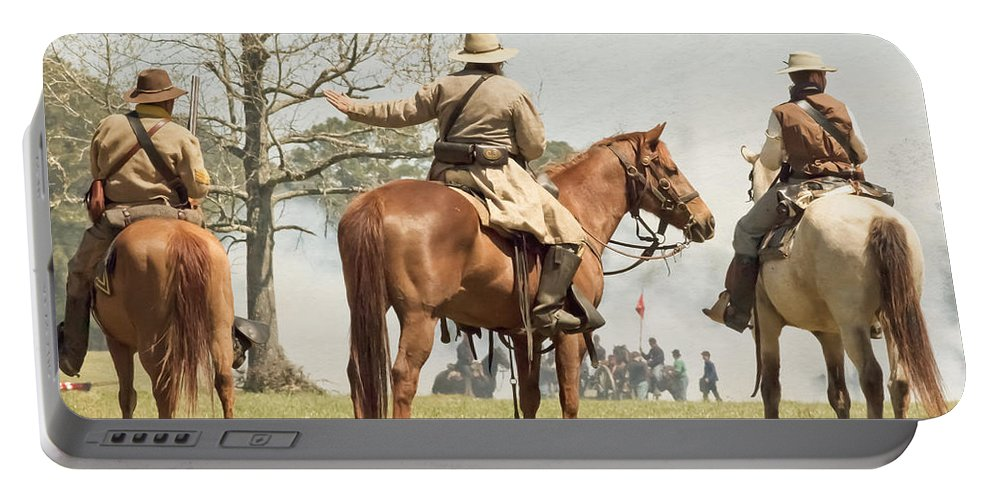 Cavalry Soldiers Portable Battery Charger featuring the photograph On My Command by Kim Henderson