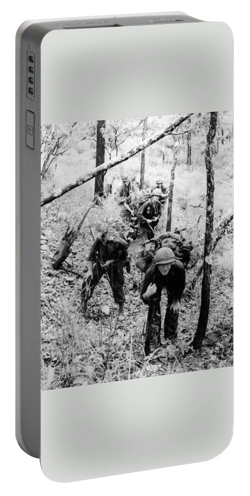 Vietnam Portable Battery Charger featuring the photograph On Patrol by Norman Johnson