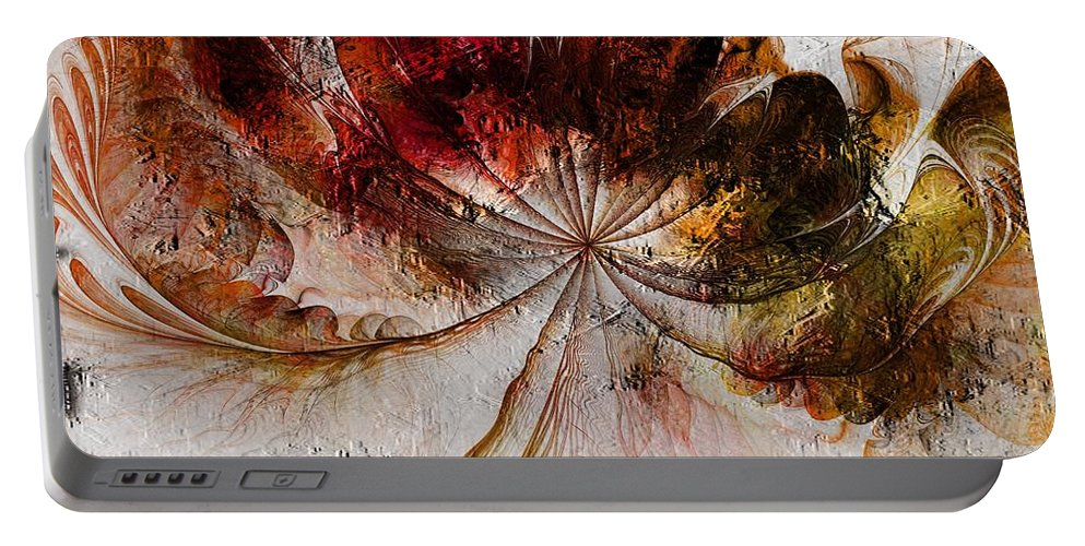 Digital Art Portable Battery Charger featuring the digital art On The Breeze by Amanda Moore