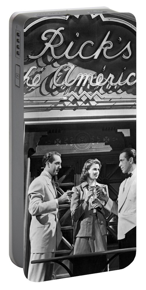 1942 Portable Battery Charger featuring the photograph On The Casablanca Set by Underwood Archives