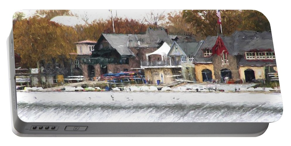 Boathouse Row Portable Battery Charger featuring the photograph On The Edge by Alice Gipson