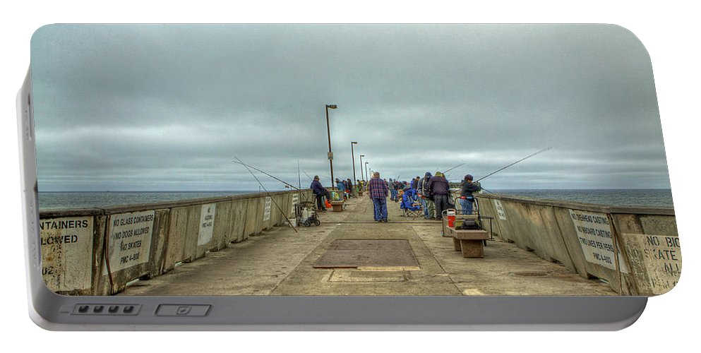 Beach Portable Battery Charger featuring the photograph On The Pier At Pacifica by SC Heffner