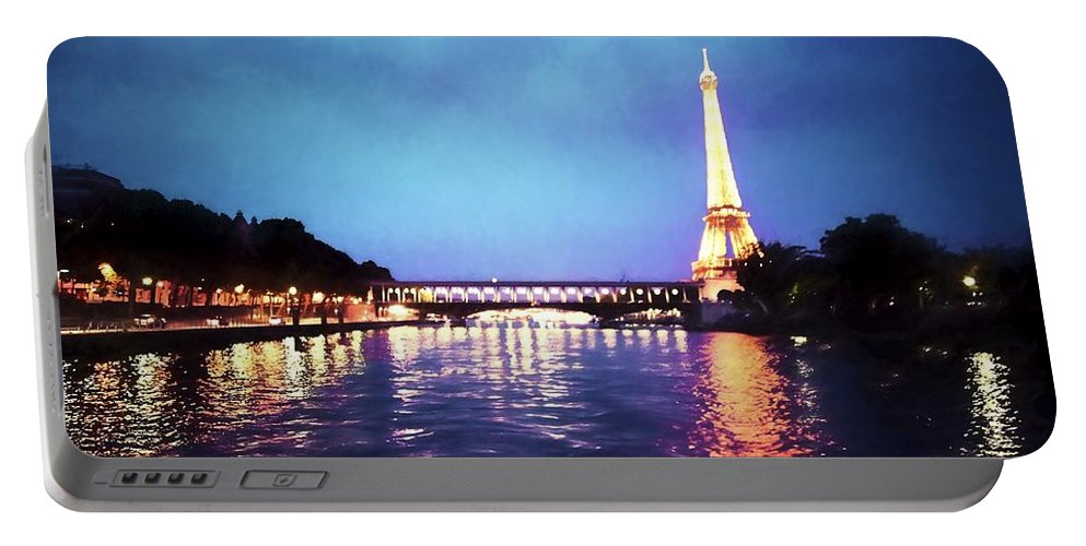 Paris Portable Battery Charger featuring the photograph On The River Seine by Bill Howard