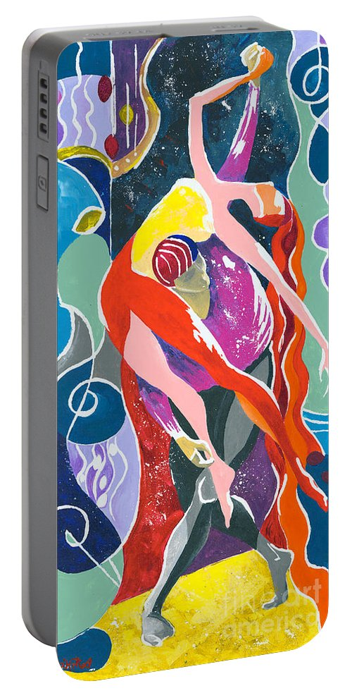 Canvas Prints Portable Battery Charger featuring the painting On The Stage - Onegin In My Eyes by Elisabeta Hermann