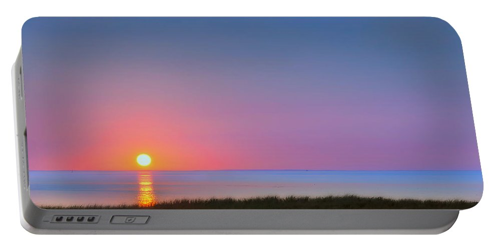 Sunset Portable Battery Charger featuring the photograph On The Water by Bill Wakeley