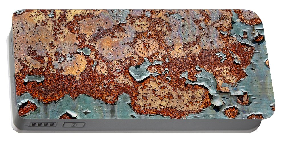 Rust Portable Battery Charger featuring the photograph Once Painted by Olivier Le Queinec