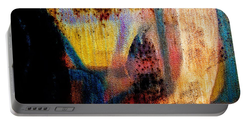 Abstract Portable Battery Charger featuring the photograph One Half by Bob Orsillo