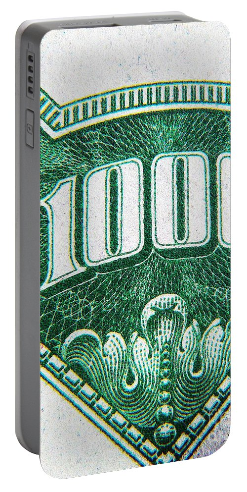 Money Portable Battery Charger featuring the photograph One K by Chris Berry