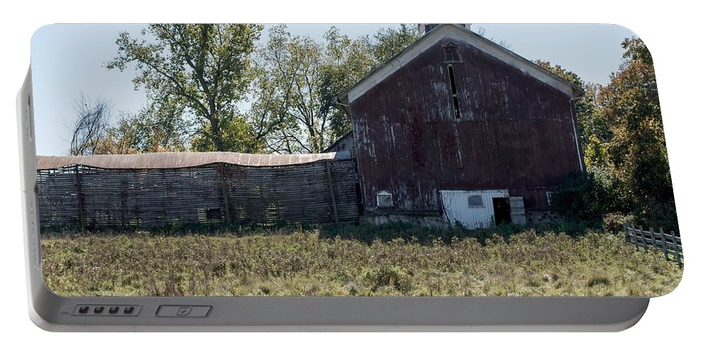 Barn Portable Battery Charger featuring the photograph One Light by Joseph Yarbrough