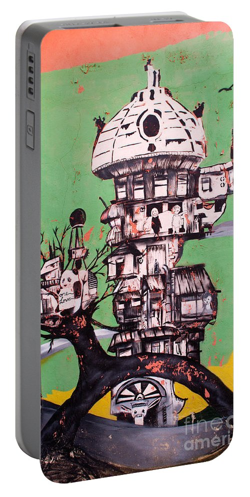 Turkish Portable Battery Charger featuring the photograph One Love Panda by Rick Piper Photography