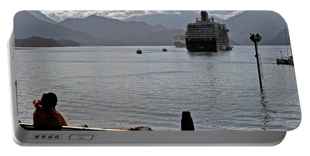 Alaska Portable Battery Charger featuring the photograph One More Ship by Joseph Yarbrough