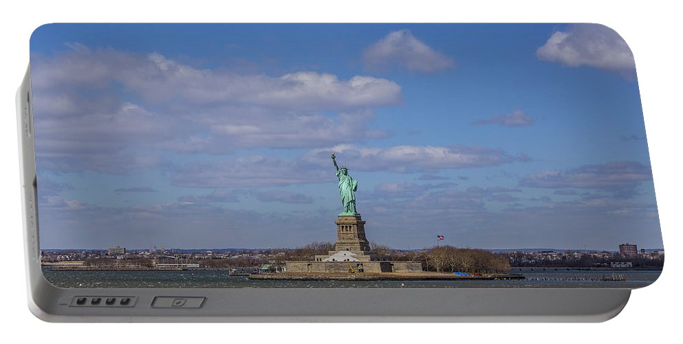 New York City Portable Battery Charger featuring the photograph One Nation... by Angus Hooper Iii