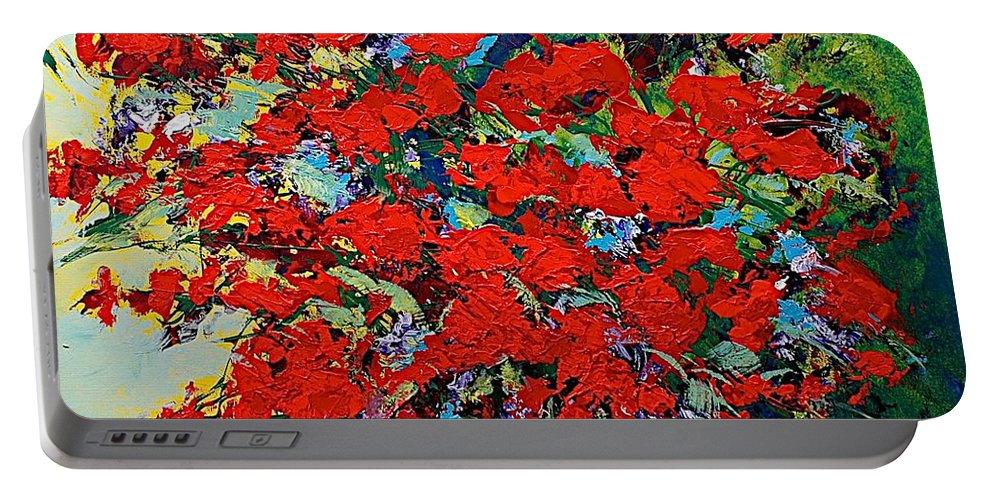 Landscape Portable Battery Charger featuring the painting One Of A Kind by Allan P Friedlander