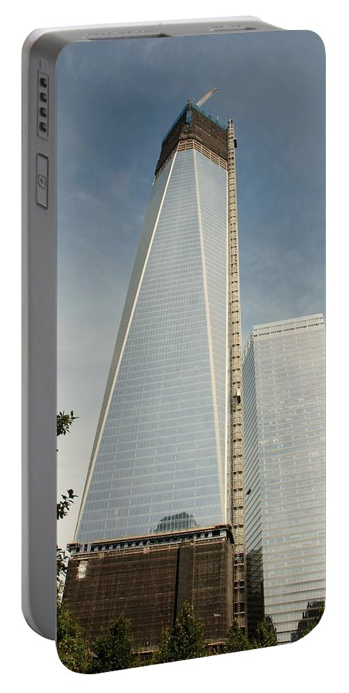 Wtc Portable Battery Charger featuring the photograph One W T C by Rob Hans