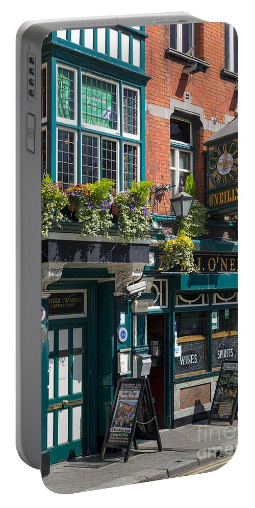Architecture Portable Battery Charger featuring the photograph O'neill's Pub by Brian Jannsen