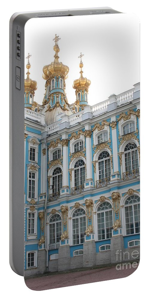 Palace Portable Battery Charger featuring the photograph Onion Domes - Katharinen Palace - Russia by Christiane Schulze Art And Photography