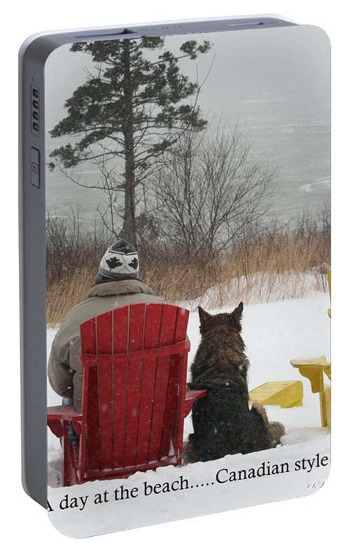 Funny Photograph Portable Battery Charger featuring the photograph Only In Canada by Sue Long