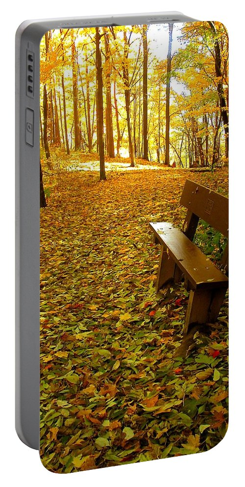 Fall Portable Battery Charger featuring the photograph Only Lovers Are Missing by Zafer Gurel