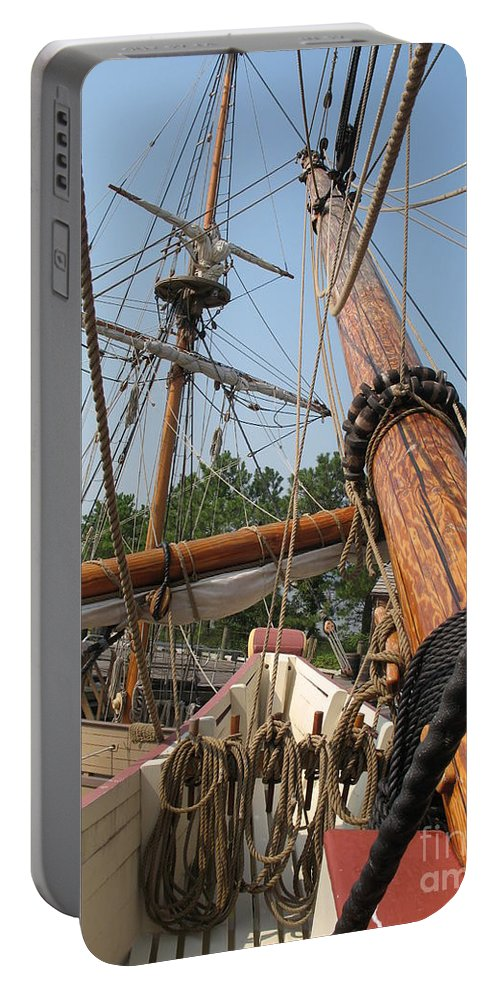 Mast Portable Battery Charger featuring the photograph Only Masts by Christiane Schulze Art And Photography