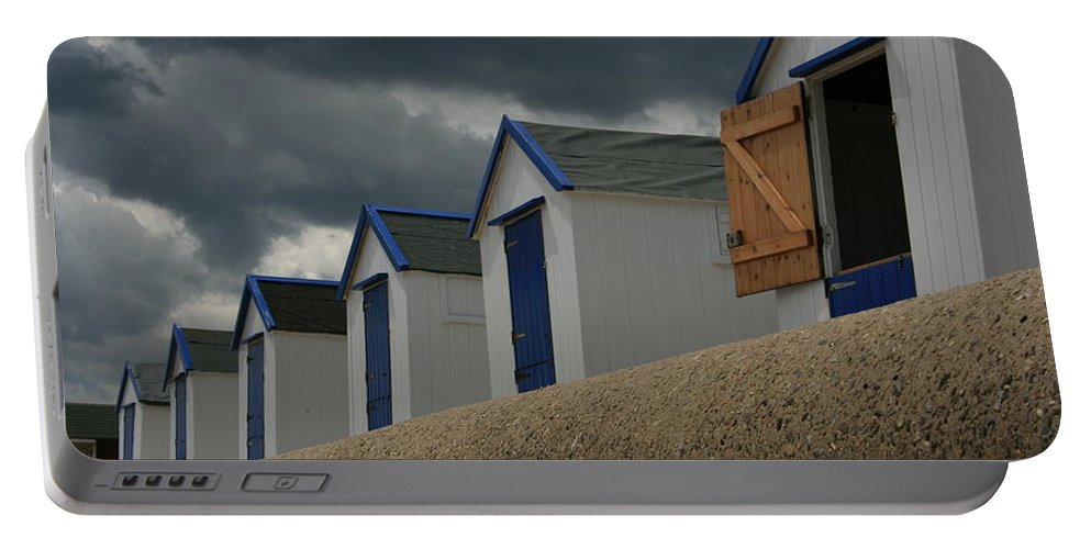 Beach Huts Portable Battery Charger featuring the photograph Only One Open by Dayne Reast