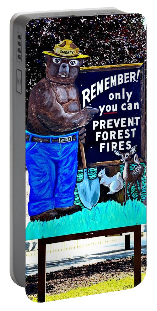 Only You Can Prevent Forest Fires Portable Battery Charger featuring the photograph Only You... by Tara Potts
