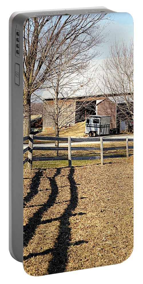 Ontario Portable Battery Charger featuring the photograph Ontario Farm by Valentino Visentini