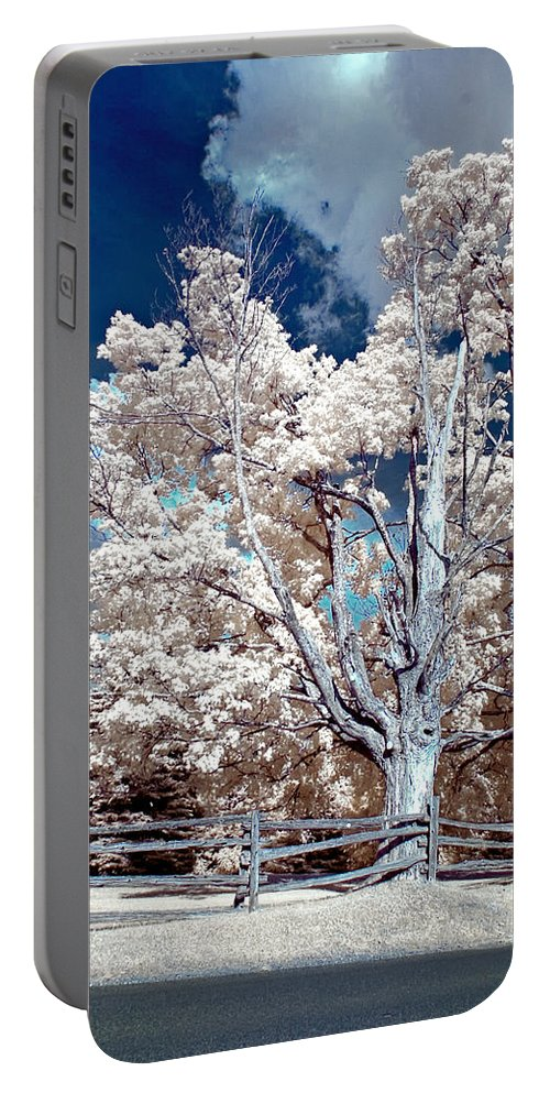 Summer Portable Battery Charger featuring the photograph Ontario Summer Color Infrared by Steve Harrington