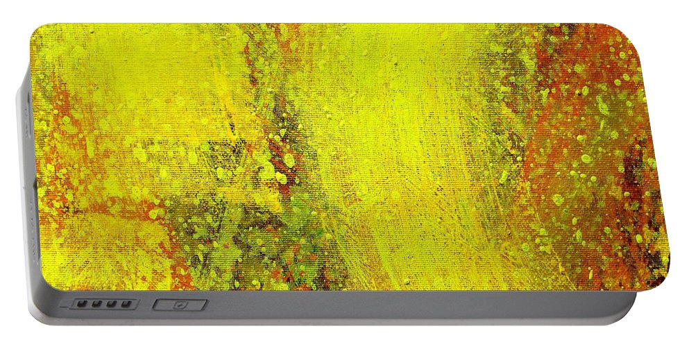 Abstract Portable Battery Charger featuring the painting Onwards by John Nolan
